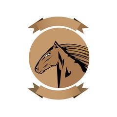 vector cartoon horse head. 2014 - Year of the Horse