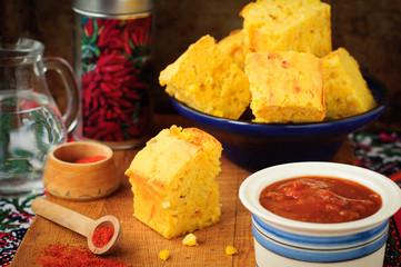 Pumpkin and Cornmeal Bread with Corn Kernels