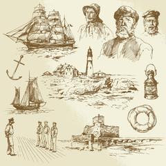 nautical elements - hand drawn set