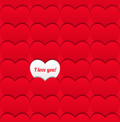 Seamless love pattern of hearts.