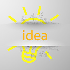 idea sign silhouette
