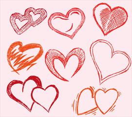 Herzen Herz Liebe Illustration