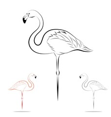 stylized flamingo