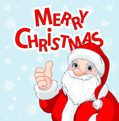 Thumbs Up Santa Claus greeting card