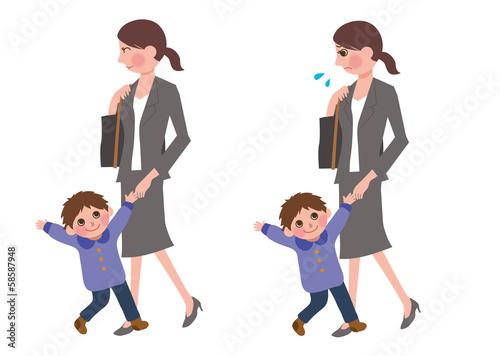 子育てする働く女性fotoliacom の ストック写真とロイヤリティフリーの