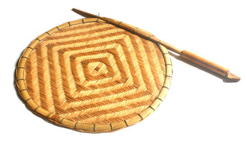 hand fan made of bamboo
