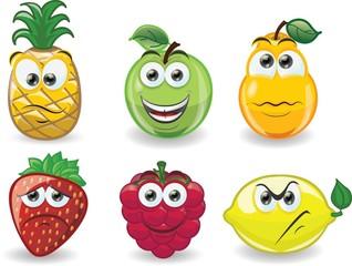 Мультфильм фрукты с эмоциями