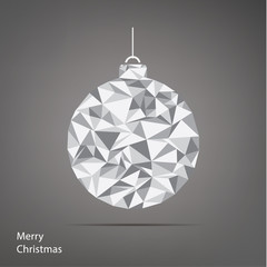 Vector Christmas illustration. Fractal Christmas tree. Square ba