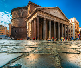 In de dag Rome The Pantheon, Rome, Italy.
