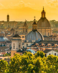 Poster Rome View of Rome from Castel Sant'Angelo, Italy.