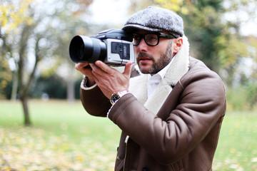 Fotograf im Park