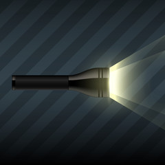WebVector flashlight on dark striped background