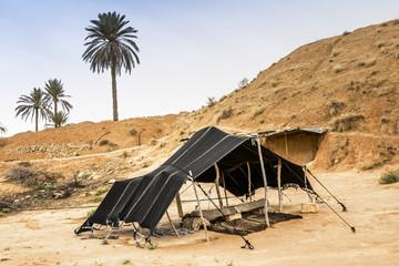 The Berber tent in the Sahara desert, Tunisia, Africa