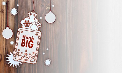 xmas coupon with think big sign