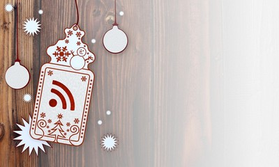 xmas coupon with wifi sign