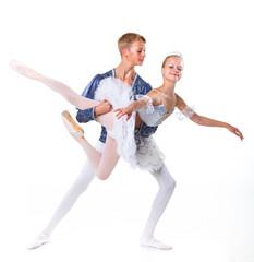 Couple of ballet dancers posing