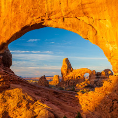 Foto op Canvas Natuur Park Turret Arch, Arches National Park