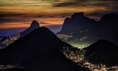 Rio de Janeiro sunset view