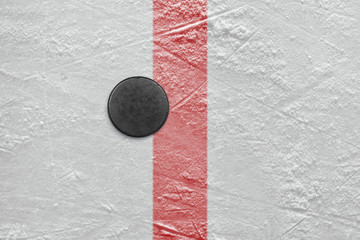 Puck on goal line