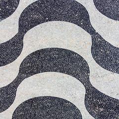 Copacabana Beach sidewalk mosaic, Rio de Janeiro