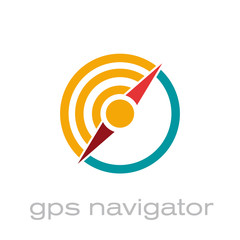 Vector logo gps navigator