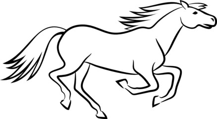 Horse vector outline