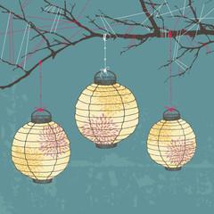 Three Paper Lanterns