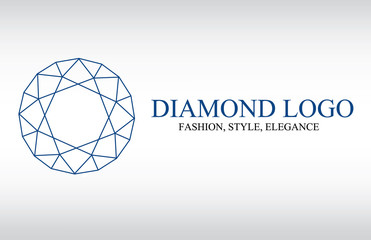 Diamond logo, fashion logo