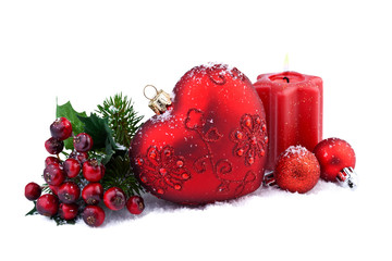 christmas decoration with red heart