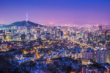 Aluminium Prints Seoul Seoul, South Korea Skyline