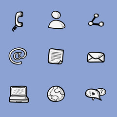 Icons collection of internet communication