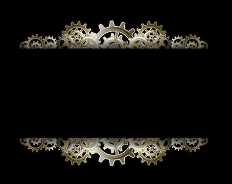 Steampunk gears frame