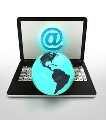 internet surfing and search info about american countries