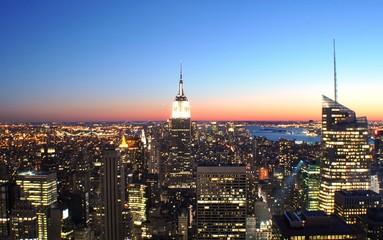 New York sightseeing: Manhattan at sunset