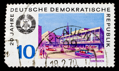 GDR stamp printed in 1969, Dresden