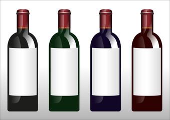 Weinflaschen Flaschen Etikett