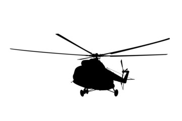 Silhouette of the helicopter.