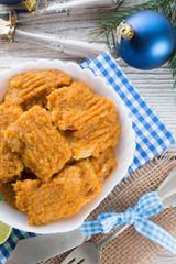 Fish with carrots imbir sauce