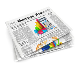 3d stack of newspapers