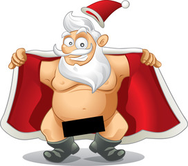 Crazy Santa - Vector Cartoon