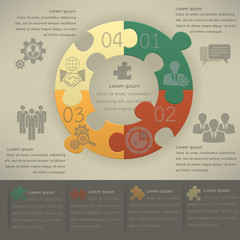 Business infographic template with icons