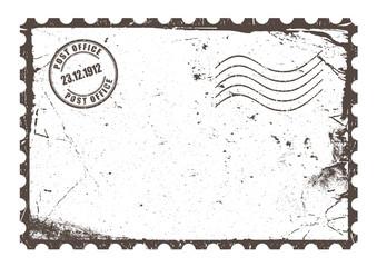 Retro postcard layout