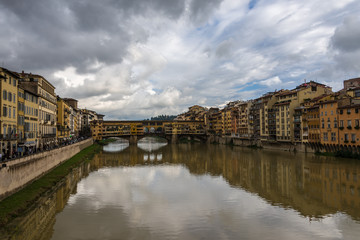 Florence view of Ponte Vecchio