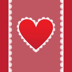 elegant card for Valentine's Day