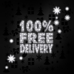 noble 100 percent free delivery symbol with stars