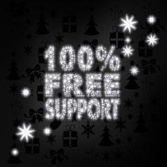 noble 100 percent free support label with stars