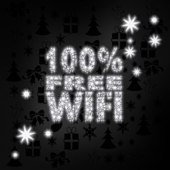noble 100 percent free wifi symbol with stars