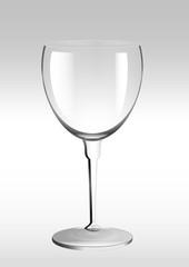 Glas Weinglas leeres Glas leeres Weinglas