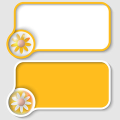 two yellow text frame and flower