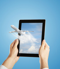 Wall Mural - touch pad with airplane